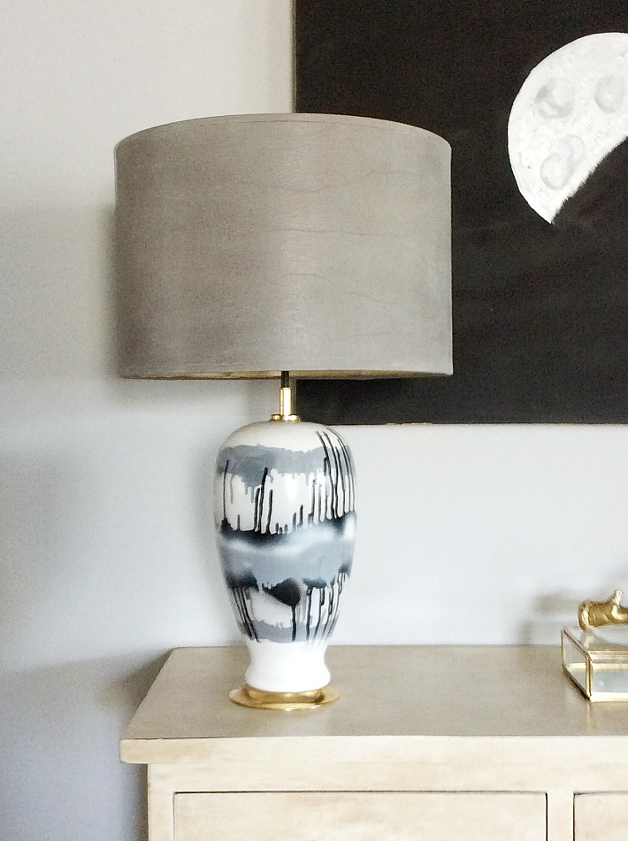 Abstract diy table lamp