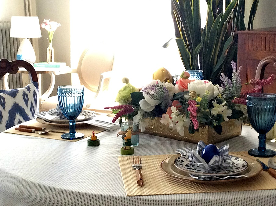 Simple casual spring easter table