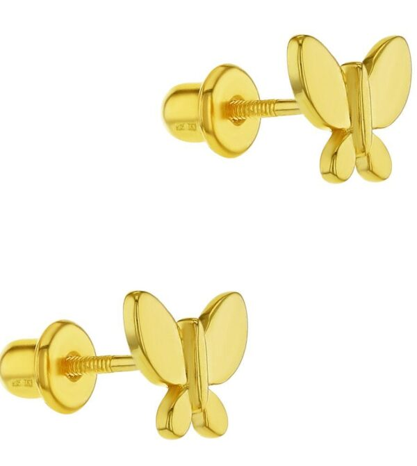 Butterfly Small Screw Back Earrings for Girls or Teens