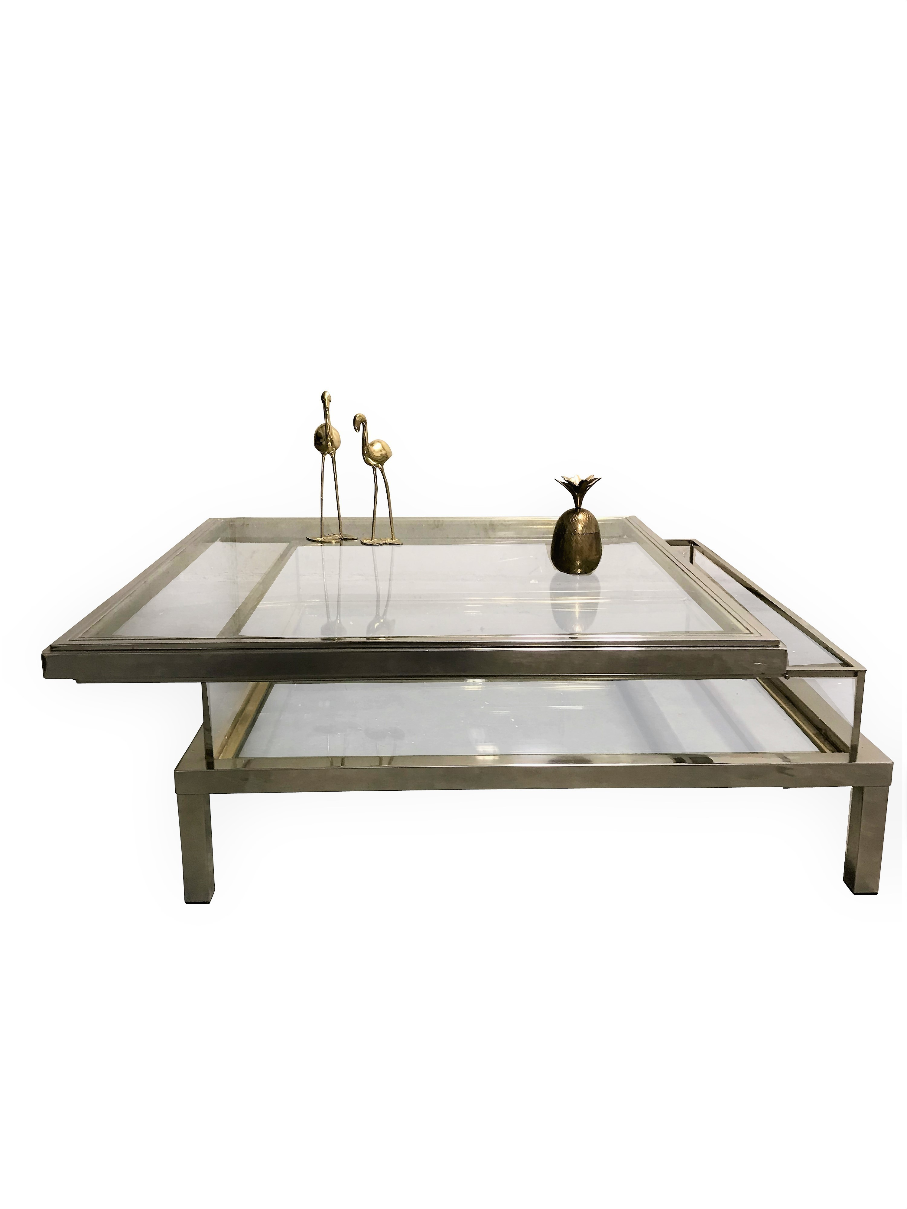Vintage Sliding Top Coffee Table By Maison Jansen 1970s Unknown