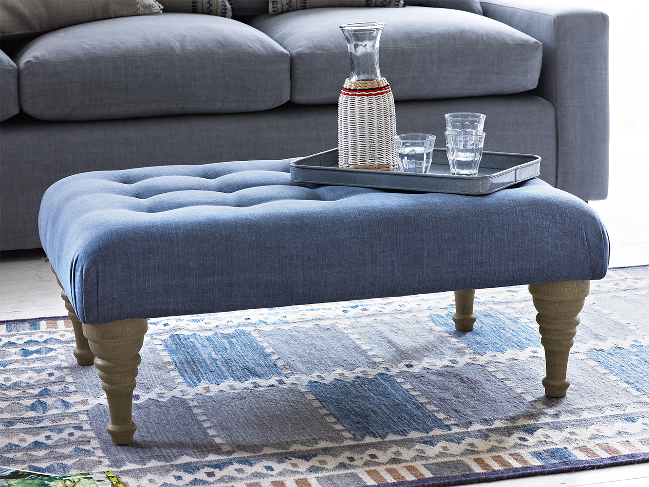 Brilliant Buttoned Footstool Bloomer Loaf