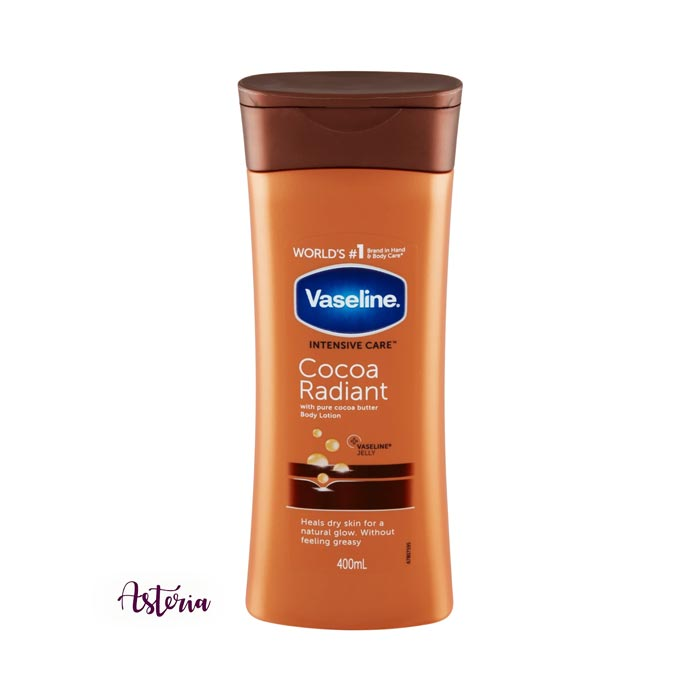 Vaseline Intensive Care Cocoa Radiant Body Lotion has non-greasy fast absorbent creamy formula