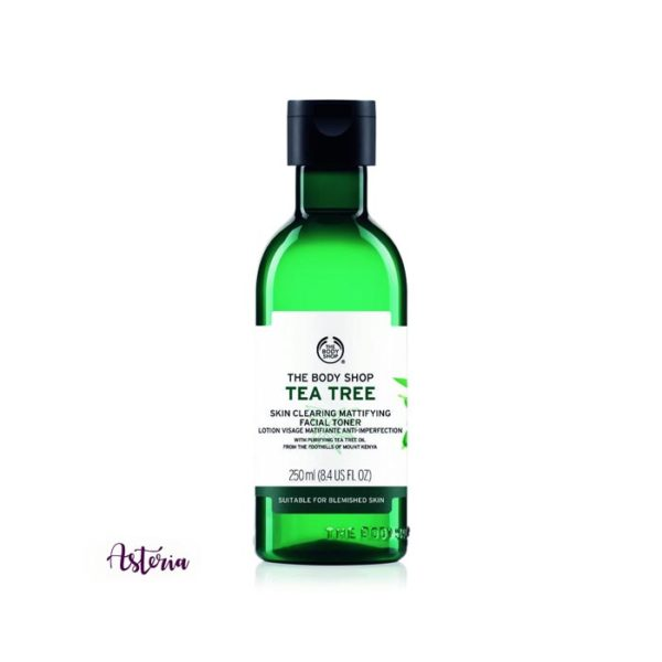 The Body Shop Tea Tree Toner removes traces of cleanser, makeup and impurities in the skin, tones the skin.