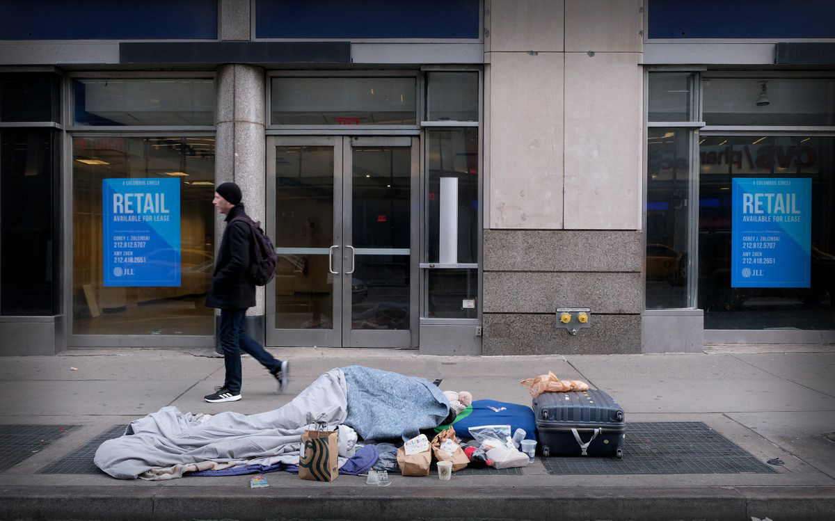 COVID-19 HIT NEW YORK CITY HOMELESS SHELTERS HARD, BUT SOME ARE FORCED TO STAY THERE