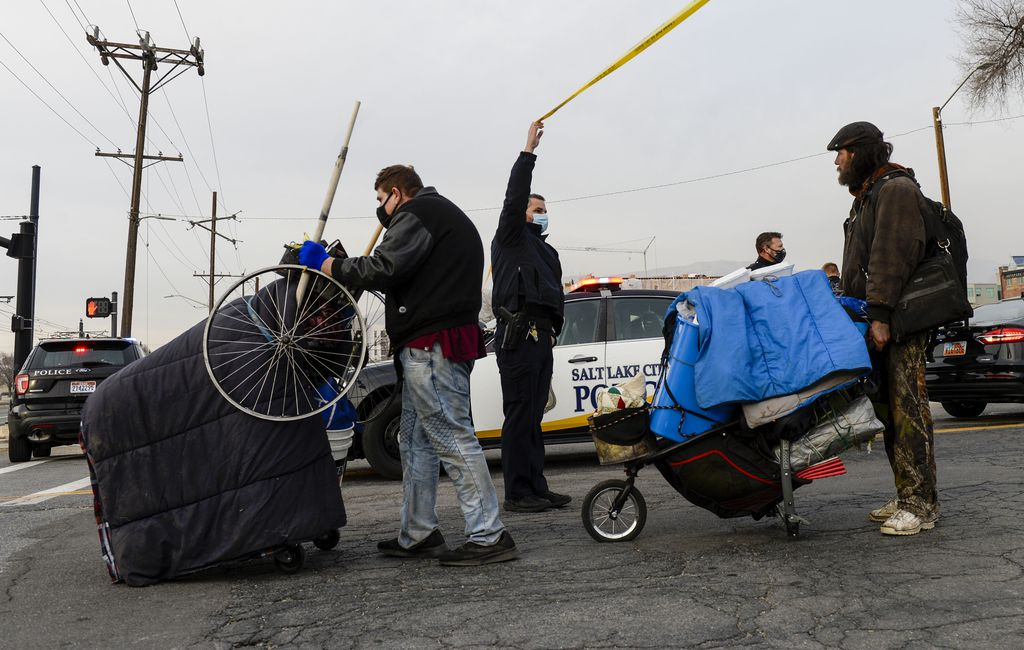 Tensions Flare As Health Department Clears Homeless Encampments In Salt Lake City