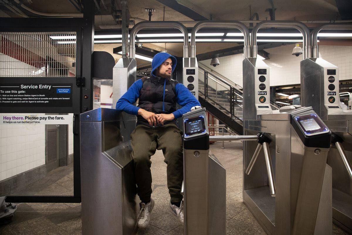 Jesus Soto said he doesn't feel welcome in the new Moynihan Hall. In Penn Station, Jan. 5, 2020. Ben Fractenberg/THE CITY