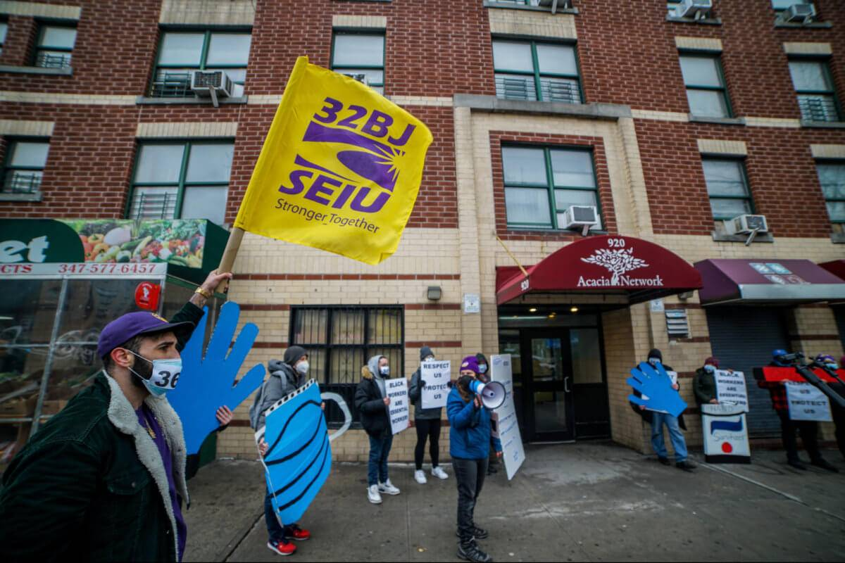 Homeless Shelter Security Officers In Bronx Rally To Demand COVID-19 Protections