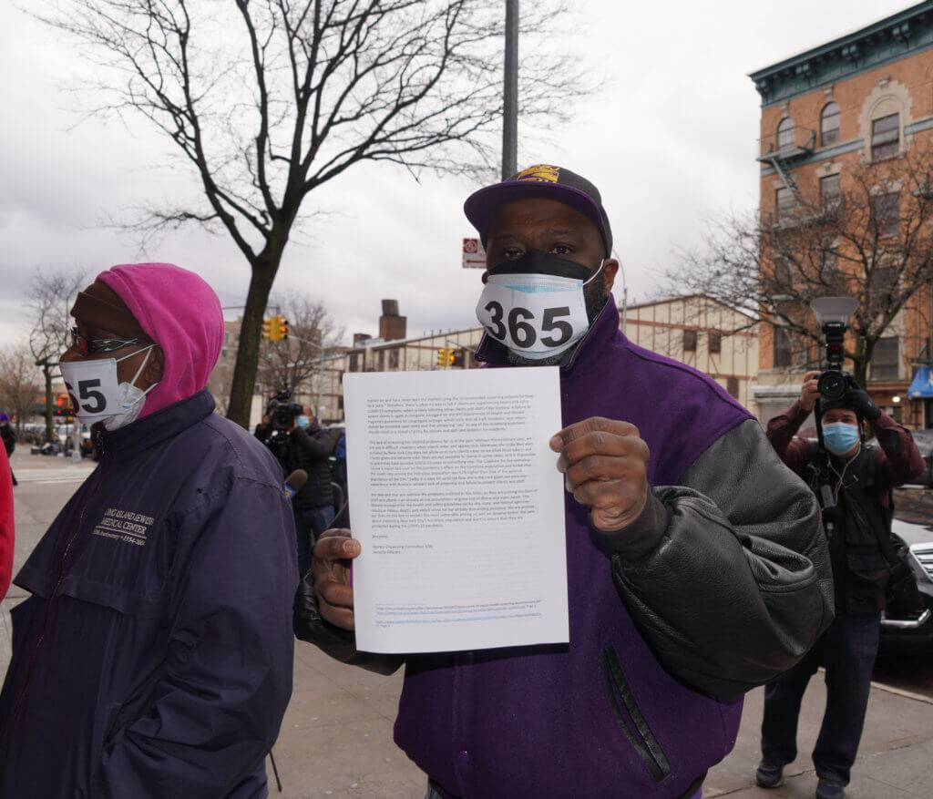 Protesters addressed a letter to the CEO of Acacia Network regarding the unfit working conditions. Dean Moses