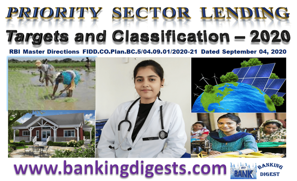 PRIORITY SECTOR LENDING  (Targets & Classification 2020)
