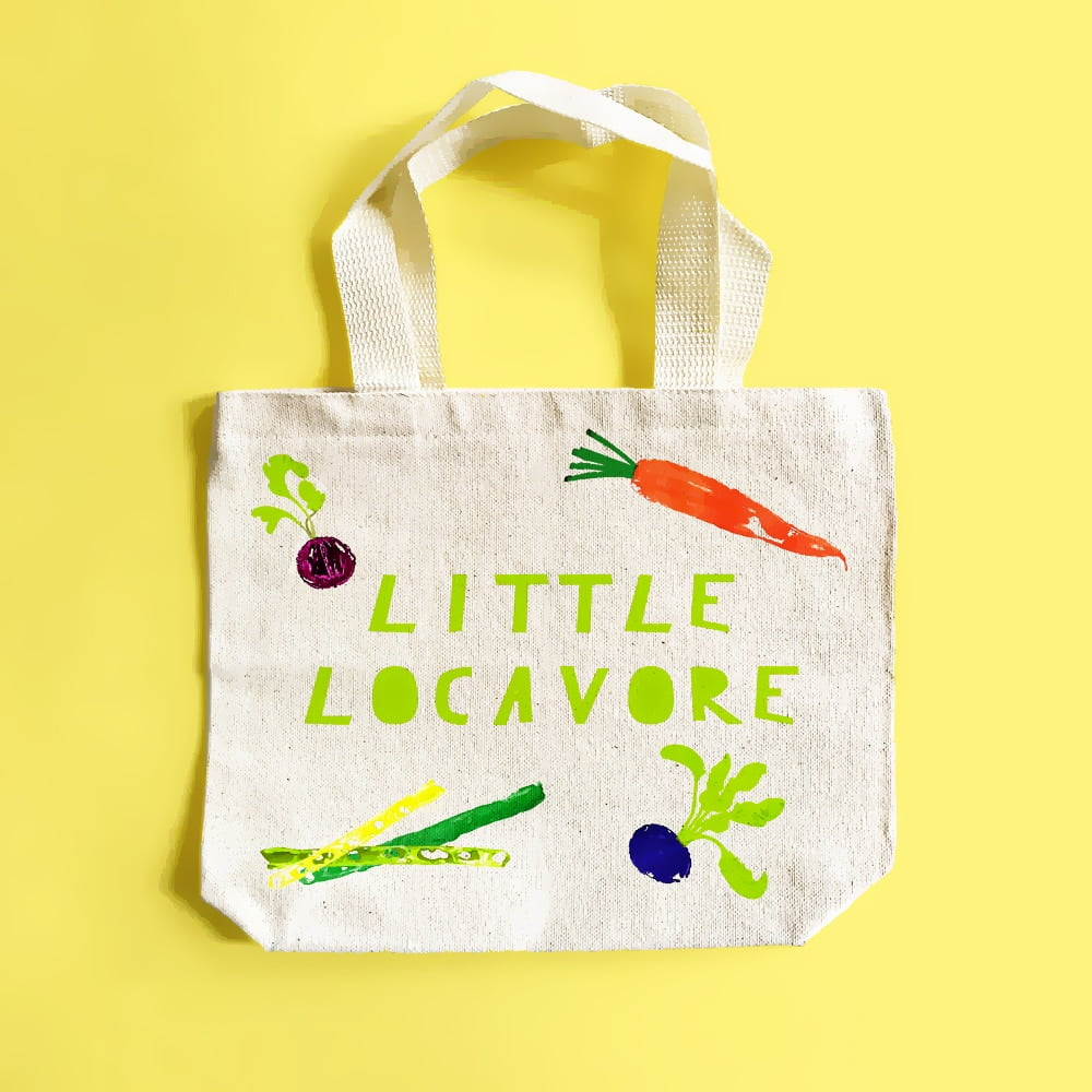 DIY Vegetable-Stamped Market Tote