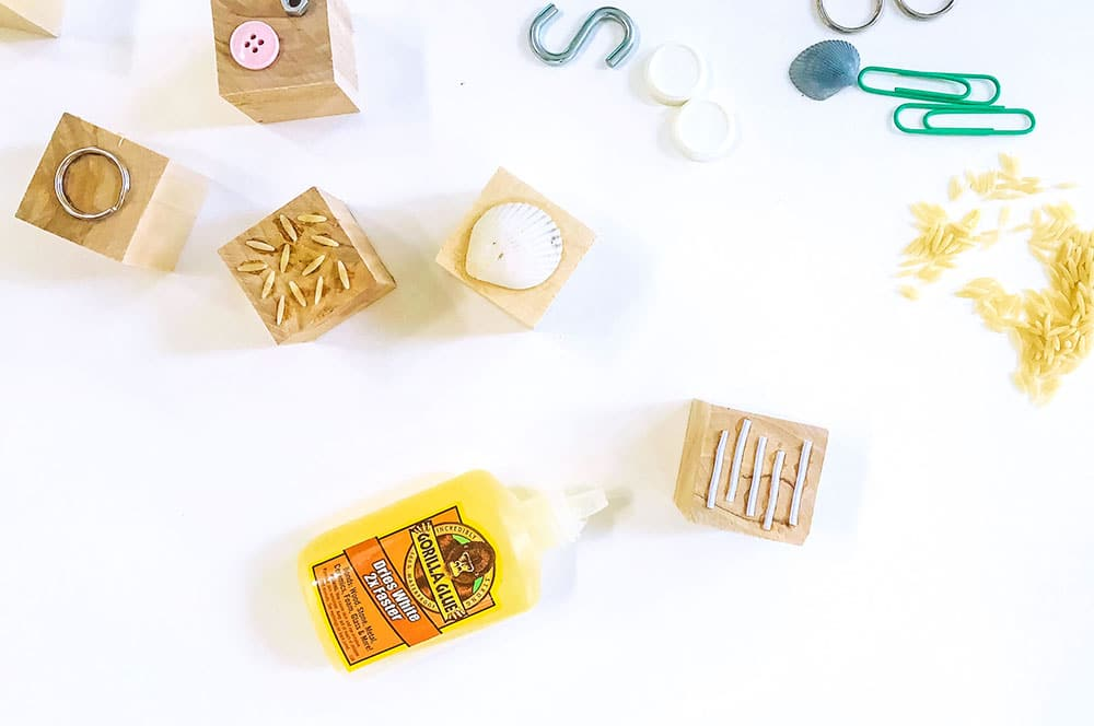 Sensory blocks are a fantastic way for toddlers and younger children to start exploring texture with their hands and you can easily DIY a modern set just like ours!