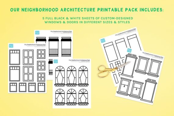 Neighborhood Architecture Printable Extension Pack Preview