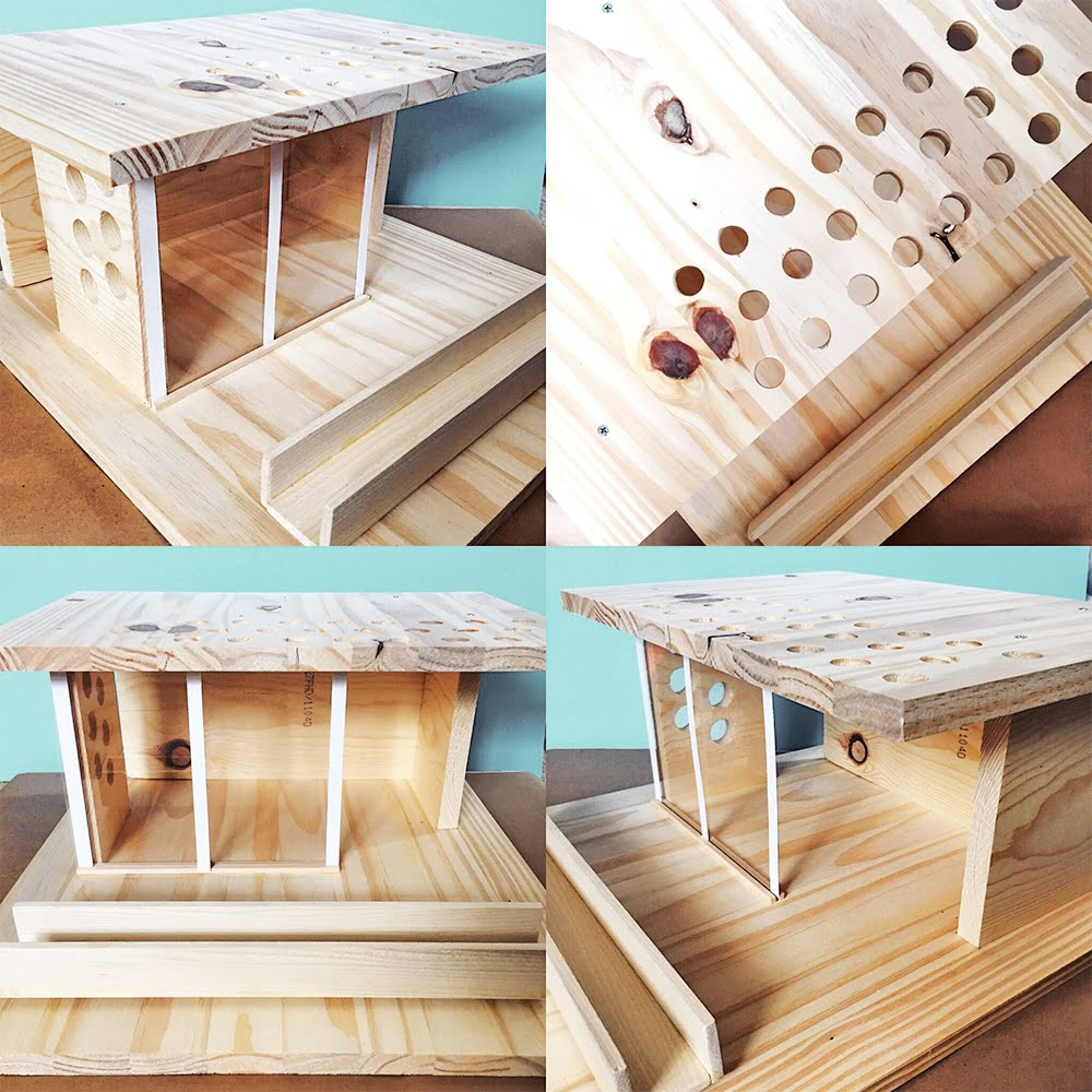 From just a few scraps of wood and simple supplies, you can make your own super-hip, mid-century-modern beachfront DIY dollhouse in an afternoon. No, seriously!