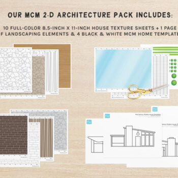 A preview of our printable MCM architecture pack