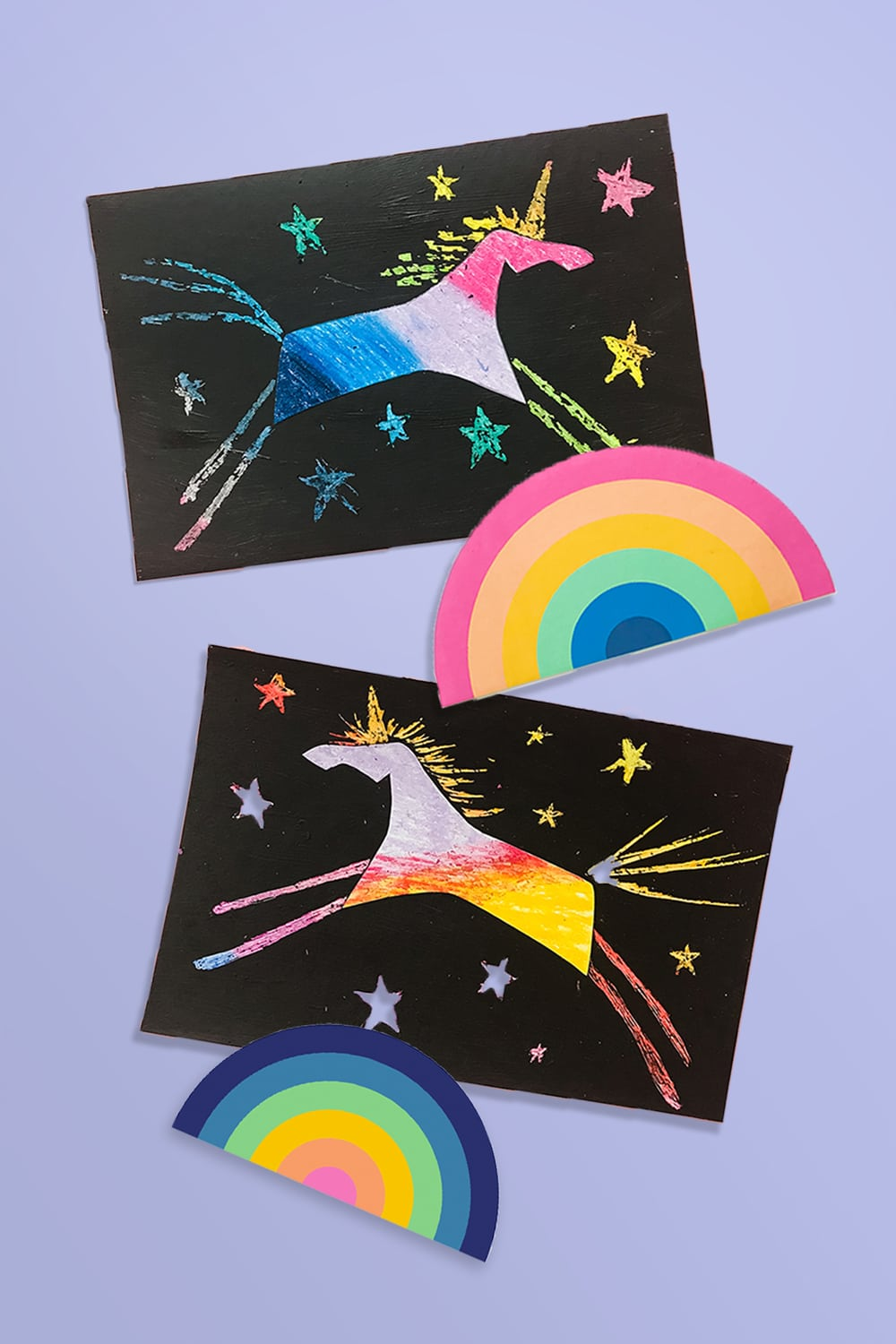 Easy DIY unicorn scratch - a super fun kids craft and simple art project (free template included)!