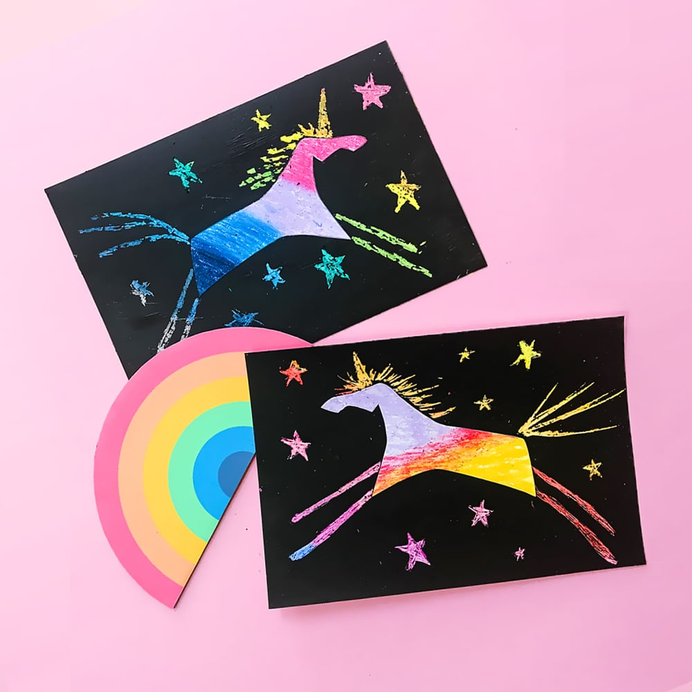 Easy DIY unicorn scratch - a super fun kids craft and simple art project!