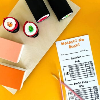 Printable Sushi Menus for Pretend Play