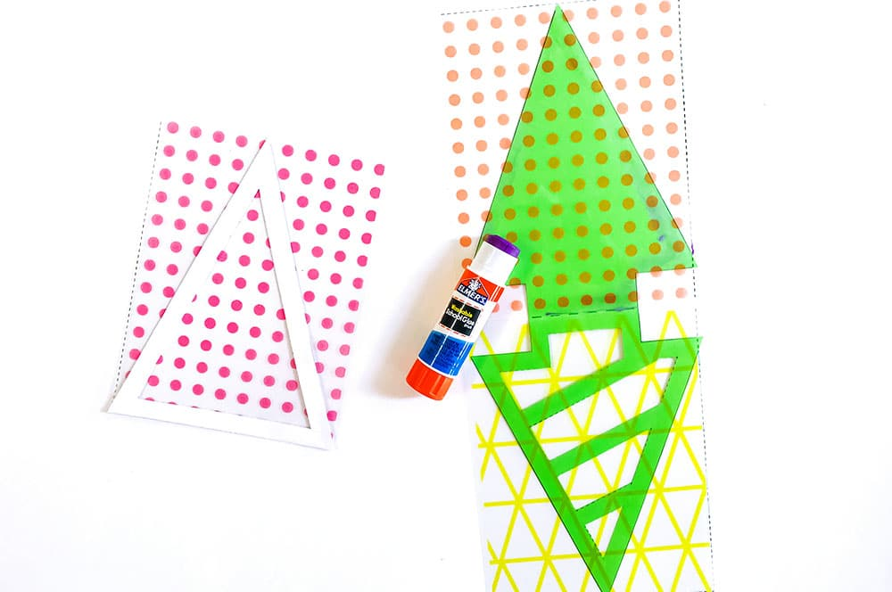 Make a hip pine tree garland with modern layered patterns (free templates included)!