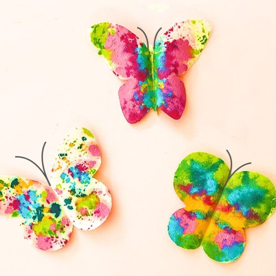 Make a beautiful set of melted crayon butterflies inspired by our friend Shannon at Oh Creative Day!