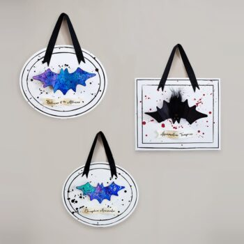 Kids will love making this spooky set of framed faux bats - a process art activity perfect for Halloween! Templates included. | via barley & birch