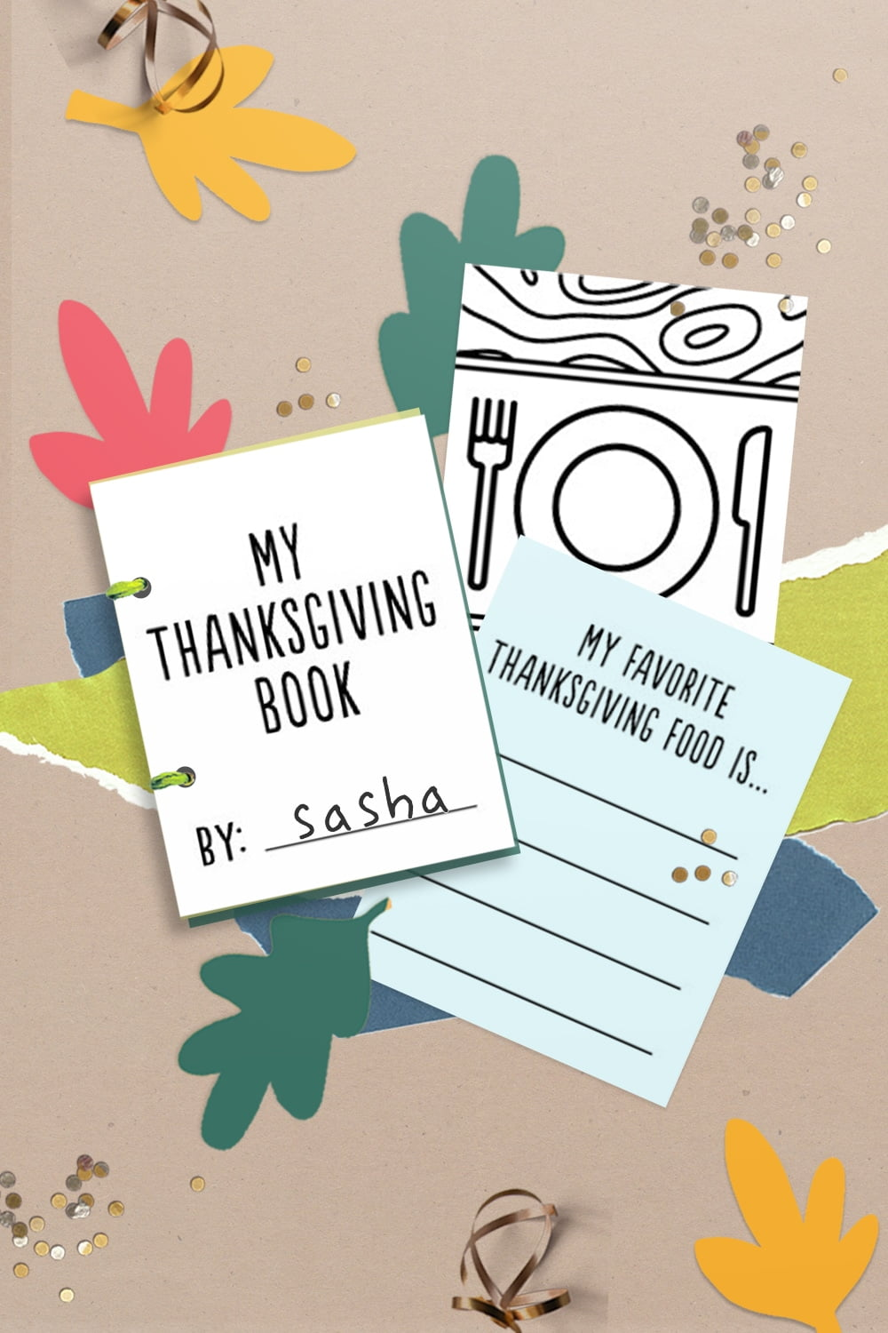 These free printable mini Thanksgiving doodle books  make easy turkey day fun for kids, cute classroom entertainment, or lovely little holiday table favors. | via barley & birch