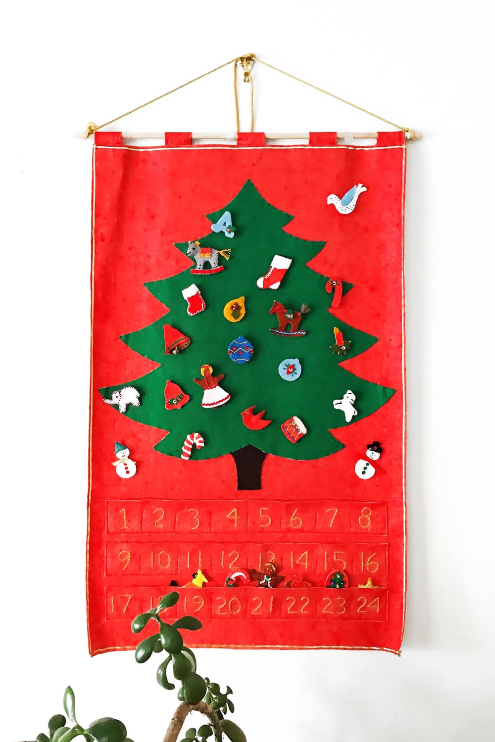 Handmade Felt Christmas Tree Advent Calendar