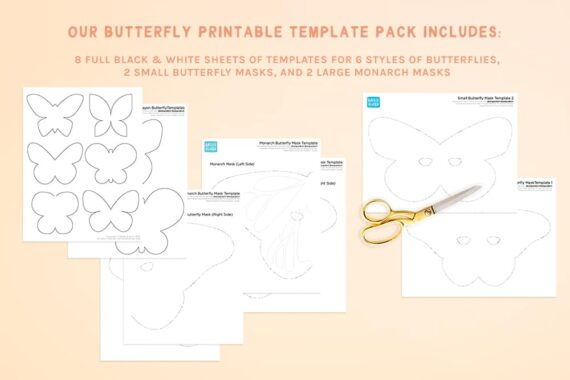 Butterfly Activity Template Printable Pack Preview