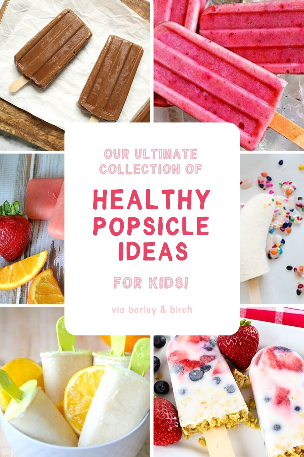 Find a new and refreshing summer favorite with this collection of unique and healthy popsicle ideas and recipes for kids (and adults!) | via barley & birch