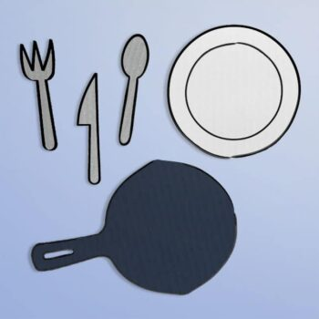 Printable Tableware Template Set