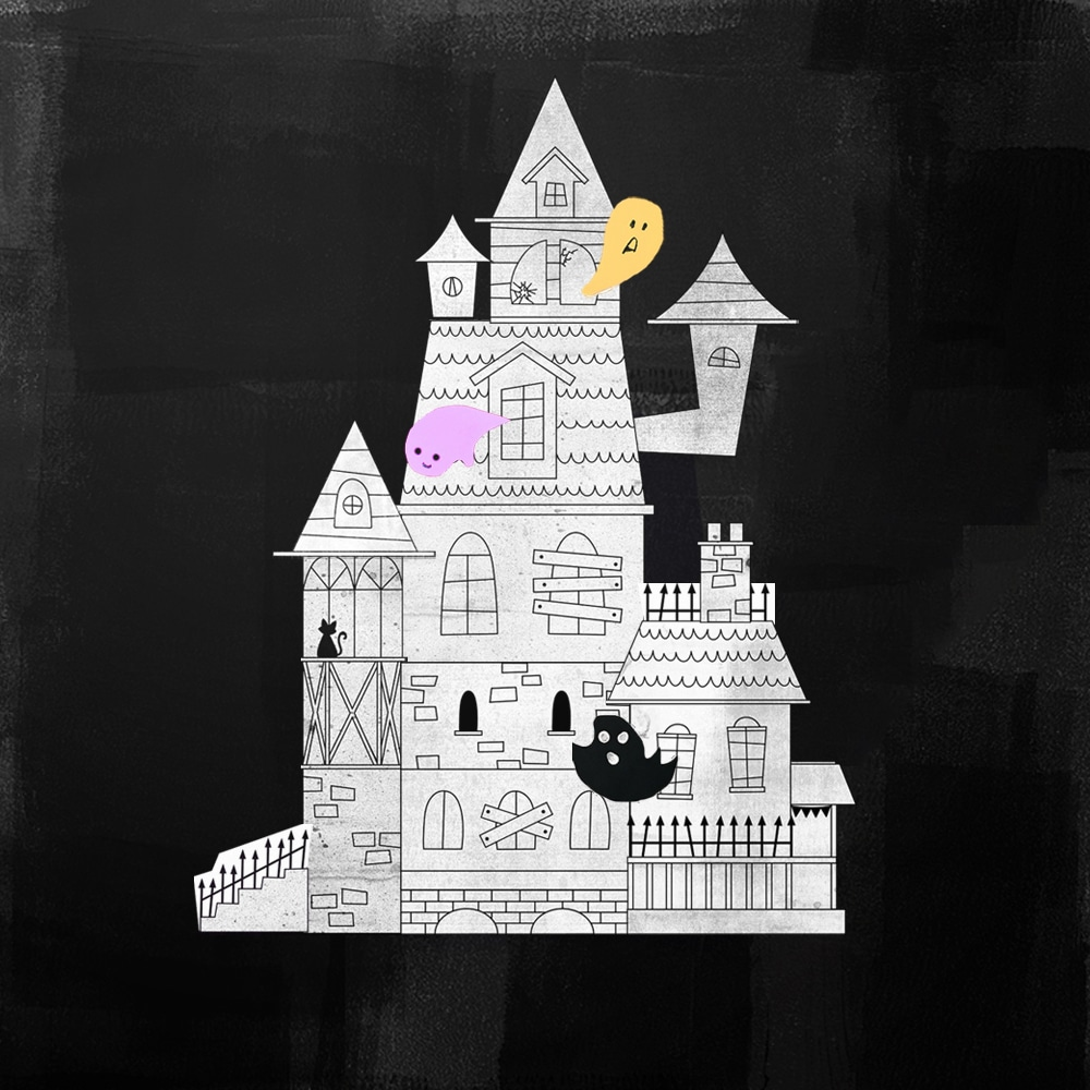 Kids can combine our printable haunted house elements in hundreds of ways to create their own monstrous DIY Halloween mansion! | via barley & birch