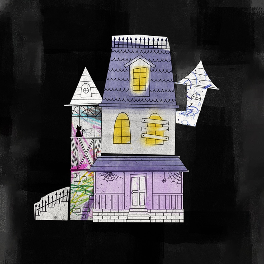 Design your very own Halloween home with this mix and match haunted house printable kit! | via barley & birch