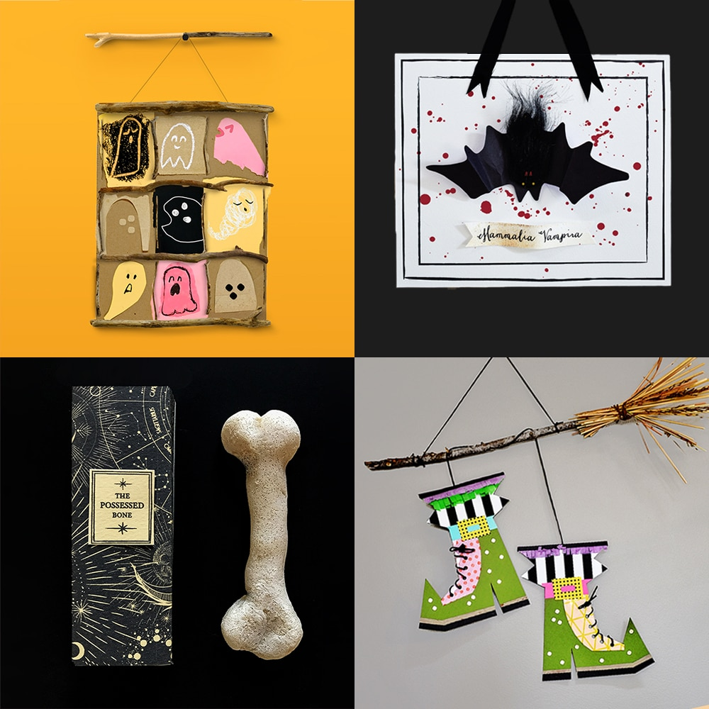 A fresh collection of our favorite modern Halloween art, crafts, and activities for kids! | via barley & birch
