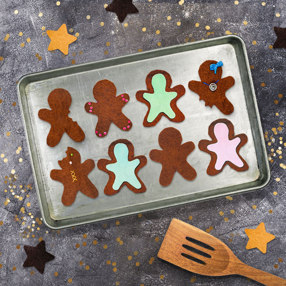 Make an adorably simple DIY gingerbread play bakery out of felt or cardboard! This is a wonderful pretend play activity for kids that also helps to develop fine motor skills. | via barley & birch