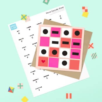 Send handmade art with a secret message this Valentine's Day! A wonderful activity for kids with printable morse code and nautical flag printable templates available. | via barley & birch