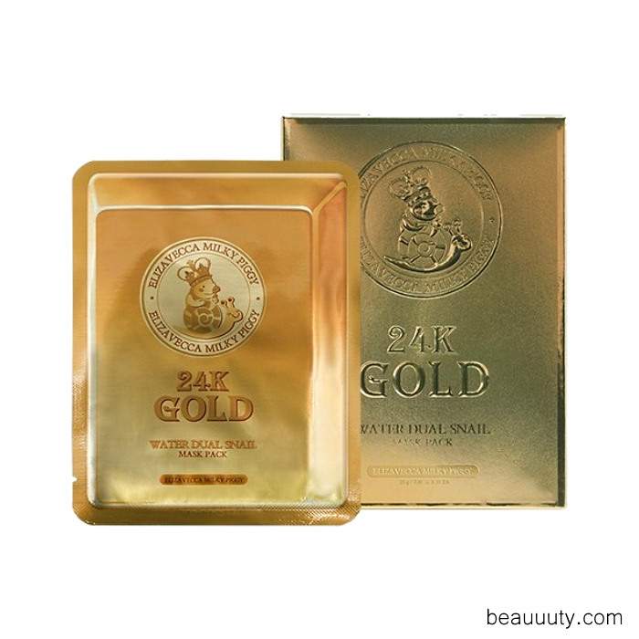24k Gold Water Dew Snail Mask Pack (25ml x 10)