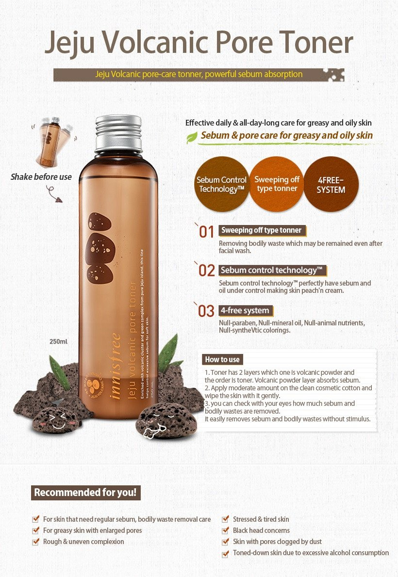 How to use Jeju Volcanic Pore Toner 250ml