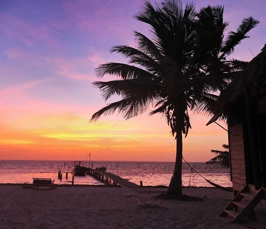 Pictures of Belize beaches sunset 1