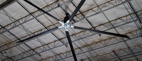 AAES CA products loading dock equipment images Serco HVLS Fan 2400X1665