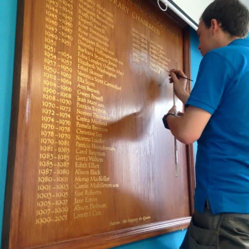 adding name to existing honours board 500x500