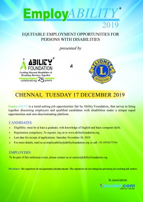 job fair for qualified persons with disabilities