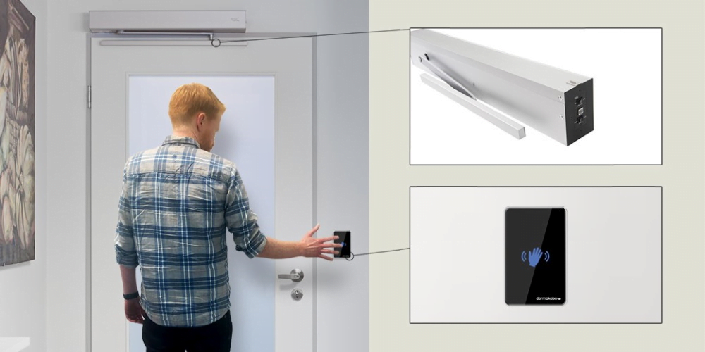 COVID-19 transmission with Touchless Automatic Door Systems