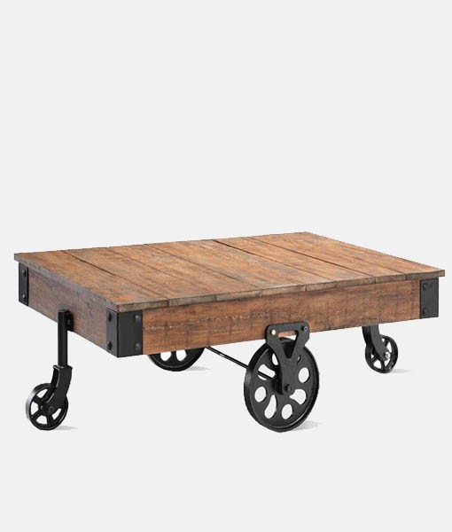 Iron Cart Industrial Coffee Table Bestofexports