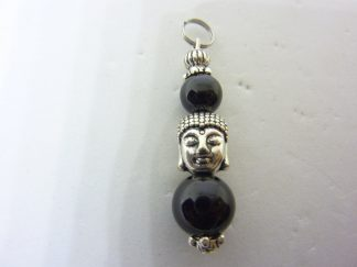 PENDENTIF SPINELLE NOIR 10-8 MM PROTECTION BOUDDHA
