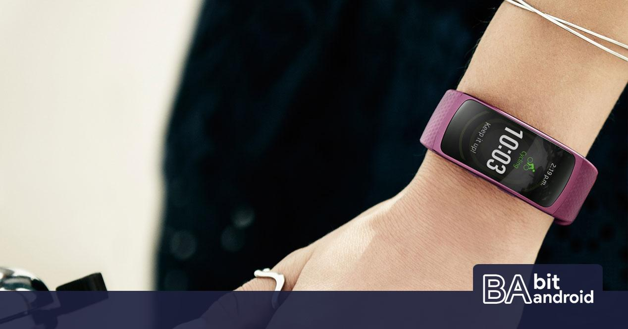 Samsung Gear Fit 2 on the wrist