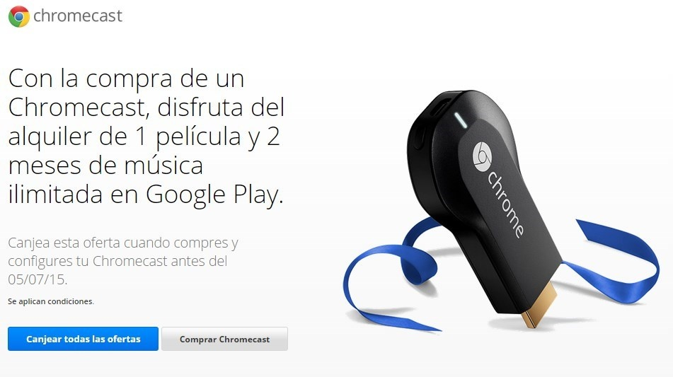 Offer if a new Chromecast is purchased