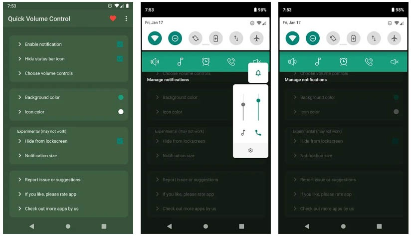 quick volume control apps free week 21