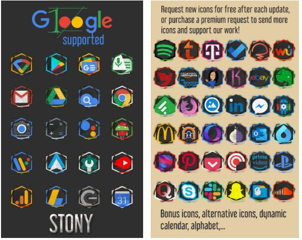 stony icon pack apps free week 47