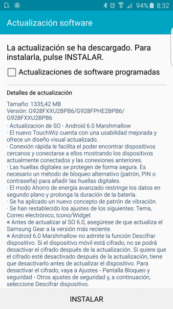 Android 6.0.1 update for the Samsung Galaxy S6 Edge Plus