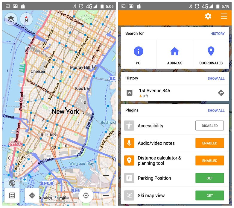 Third party map app