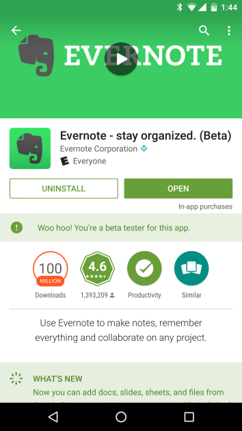 Trial version on Play Store